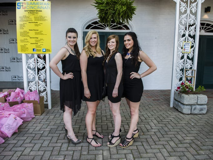 Summerfair and Cincy Chic joined forces to host the fourth annual Little Black Dress event at Coney Island'??s Moonlite Gardens. Volunteers Deanna Dabbs, Emily Keilholz, Jessica Chadwick and Sydney Burke.