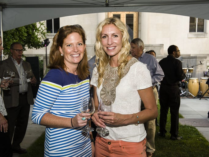 "Cincinnati Art Museum hosted its annual A Taste of Duveneck fundraiser to benefit its upcoming ""??Cincinnati Silver: 1788-1940"" exhibition. Marjoie Smyth of Indian Hill and Lauren Werner of Terrace Park."