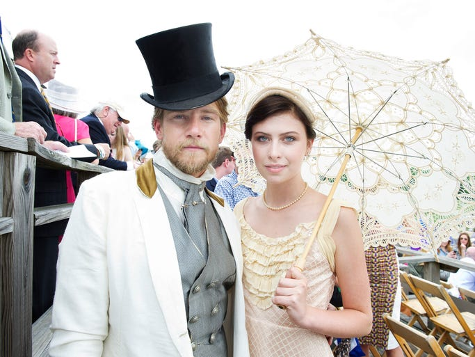 Jeff Garner and Alexandria Squires at the 73rd running of the Iroquois Steeplechase, Saturday, May 10, 2014 in Nashville, Tenn.