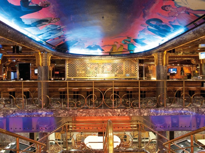 Best cruises for a weekend getaway for Ceiling mural in a smoker s lounge