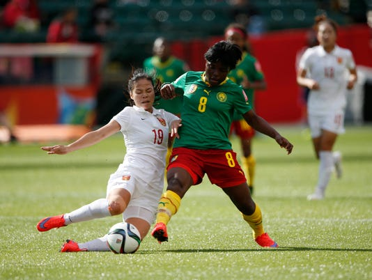USP SOCCER: WOMEN'S WORLD CUP-CHINA PR AT CAMEROON S SOC CAN AL