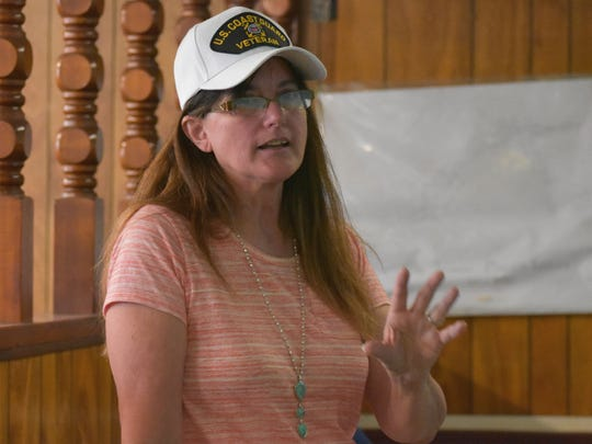 Hildebrant, a resident of Socorro, talked to Otero County residents on a variety of topics including public lands, immigration and the Tularosa Downwinders' fight for inclusion in the Radiation Exposure Compensation Act.