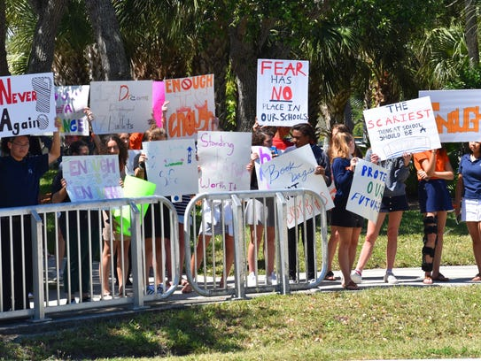 Students received support from drives on A1A.