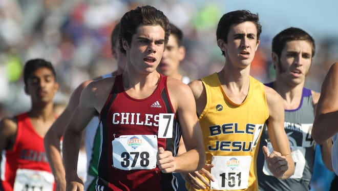 Chiles' Michael Phillips wrapped up the Timberwolves' third consecutive boys Class 3A state title by finishing second in the 1600 during the FHSAA Track & Field Championships.