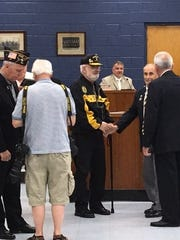 Ron Feczer, a Vietnam War veteran, was honored with