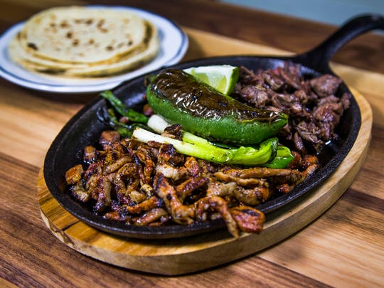 La Parillada carne asada al taspor from Gallo Blanco, a restaurant in the downtown Phoenix Garfield neighborhood.