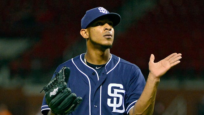 Padres reliever Jose Torres has no pitched this season.