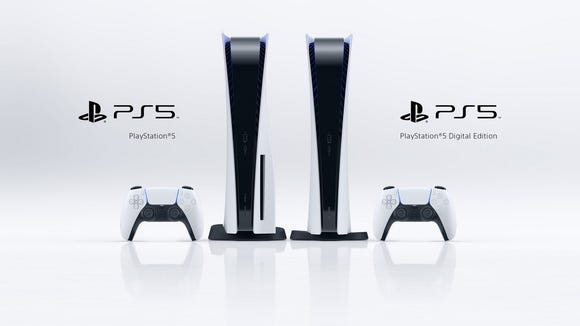 The PS5 and the PS5 Digital Edition.