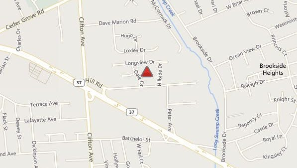 The location of a power outage in Toms River north of Route 37 at this hour.