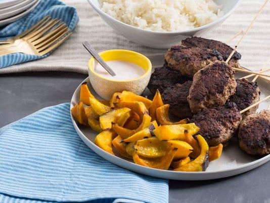 Dinner in 30 - beef skewers