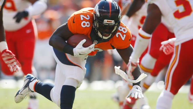 Montee Ball was part of the Broncos' running game that averaged 1.8 yards a carry against Seattle.