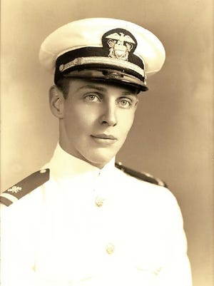 William Manley Thompson in his Navy uniform. He was listed as Killed in Action this year, 76 years after the bombing of Pearl Harbor.