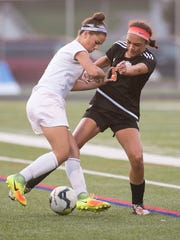 Fairfield's Annabel Anderson, left, is an all-state forward.