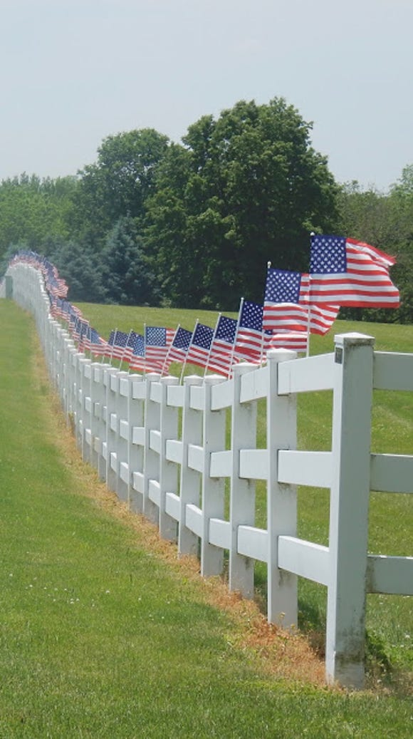 """Rick Ramage tagged this: """"Patriotic on Taxville Road."""""""