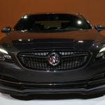 A look at the all-new 2017 Buick LaCrosse shown at Studio Center, a production studio in Farmington Hills on Tuesday, November 10, 2015. Many new features and designed can be found on the LaCrosse from a longer and wider chassis to it being 300 pounds lighter than the current model, many active and passive safety features to help with driver awareness and many other new and updated revisions to the car.