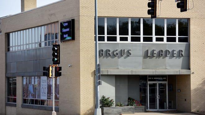 Argus Leader Media at 10th Street and Minnesota Avenue.