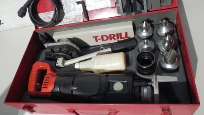 "Unknown people broke into a construction site multiple times, and stole tools and supplies. Items stolen during the thefts include a black, red, and gray ""T-Drill Model 60"" in a red metal case with its accessories."