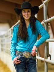 McKenna Coronado, seen at her home in Kanarraville, won the all-around cowgirl title at this year's National High School Finals Rodeo.