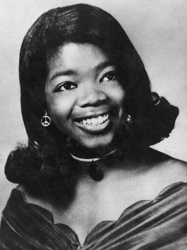 High School senior graduation photo of Oprah Winfrey.