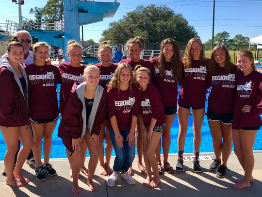 Chiles' girls swimming and diving team finished third