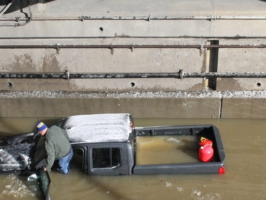 Jason Corbin of Irwin was stranded when his Nissan