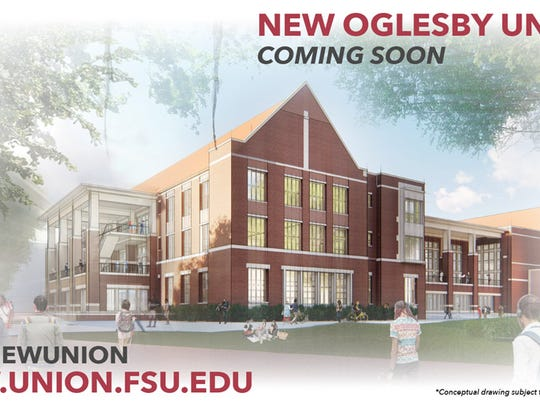 A rendering of the new Oglesby Union.