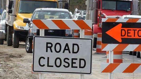 A portion of Northeast Delaware Avenue will close to through traffic Wednesday for a pedestrian bridge project.