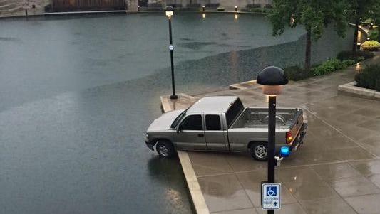 The driver of this pickup truck told rescuers that GPS led her to the Downtown Canal on June 25, 2015.