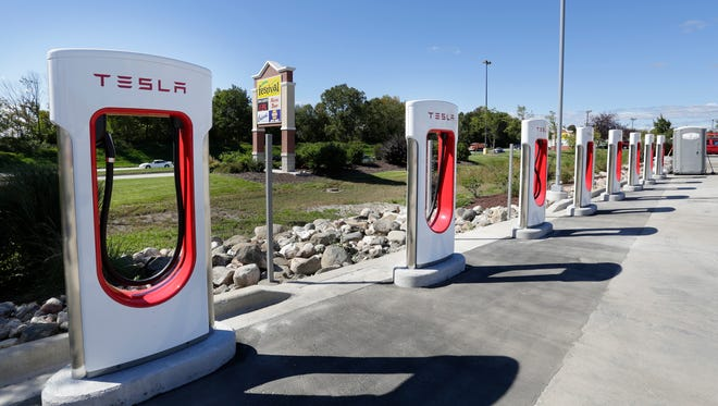 Tesla Motors is installing a Supercharger station at Festival Foods on Taylor Drive in Sheboygan. The stations only work on Tesla Model S vehicles and are free to use.