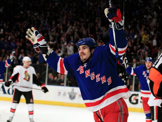 Free agent center Brian Boyle, in 2012 when he was