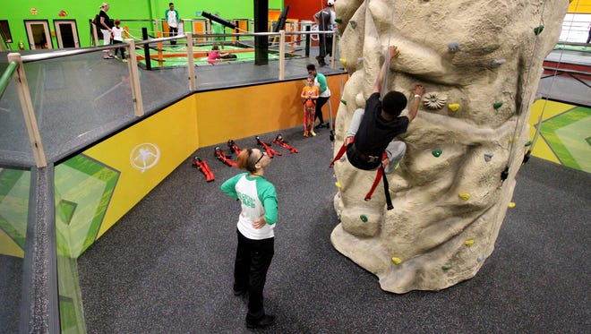 Climbing and flying are all part of the soaring activities at Rockin' Jump- The Ultimate Trampoline Park that opened May 13 at 9009 N. Deerbrook Trail in Brown Deer.