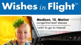 The Wishes in Flight campaign seeks donated airline miles.