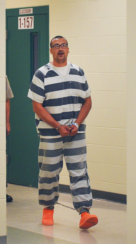 Ronald Terry Harrison, 38, is in custody going to court