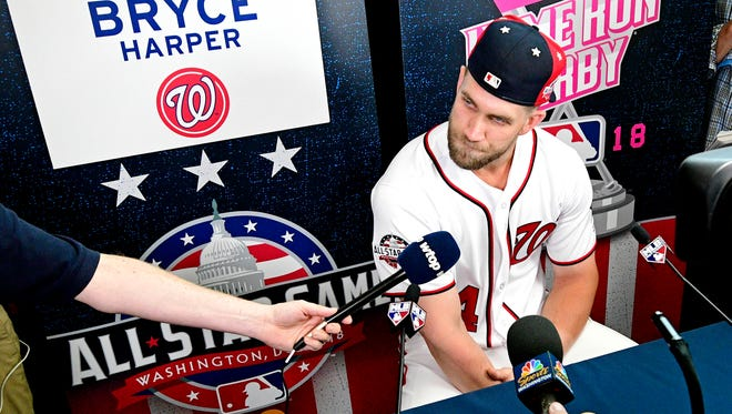 Bryce Harper is set to become a free agent at the end of the season.