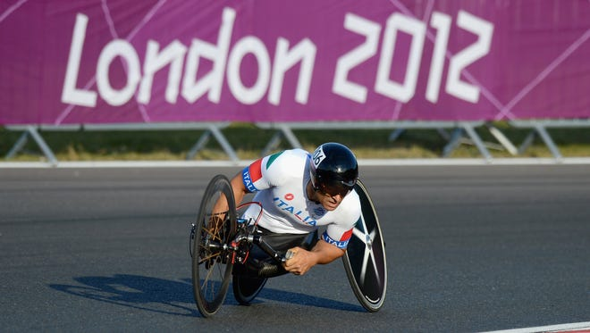 Alex Zanardi won three medals, including two golds in hand cycling at the 2012 Paralympic Games in London.