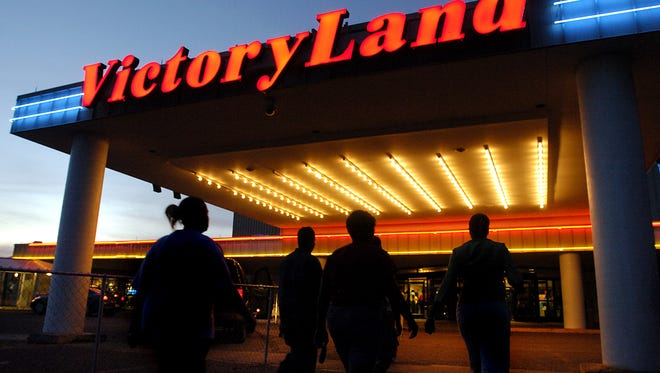 Customers walk into Victoryland in Shorter in this 2007 file photo.The ruling, which could allow VictoryLand to re-open its electronic bingo parlor that has been closed since 2010, noted that at least three other electronic bingo halls have been open in Alabama during the time that VictoryLand has been closed.
