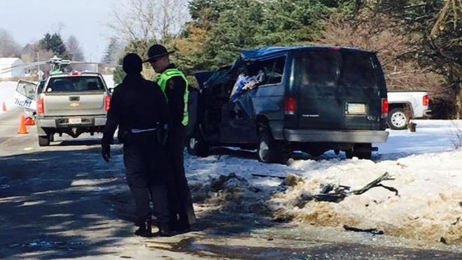 The Mansfield Post of the Ohio Highway Patrol is investigating a two-vehicle crash at the intersection of Bowman Street and Taylortown Road.