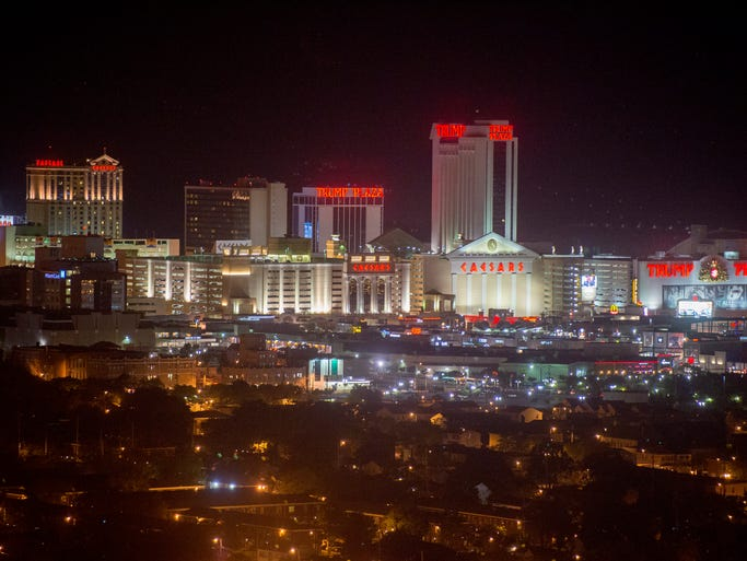 Casino hotels continue to light up the Atlantic City skyline on July 1.