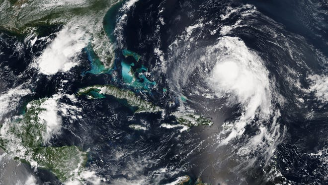 An image of Huricane Jose as it churned toward the U.S. coast on Sept. 14.