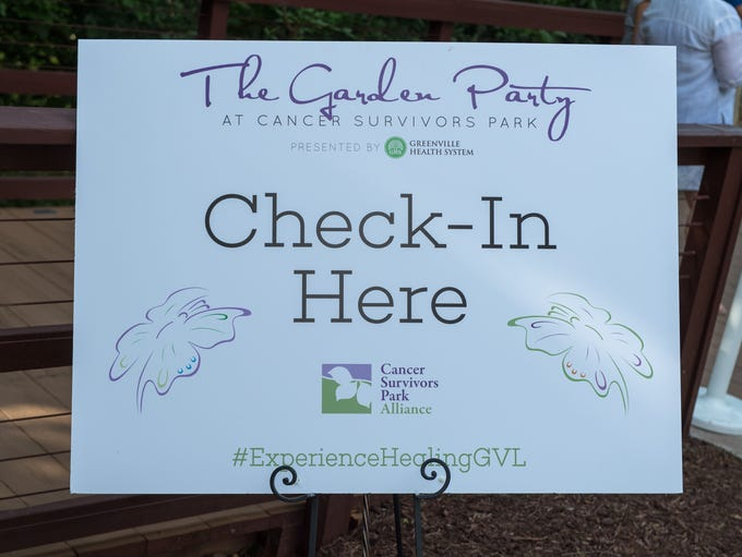 The opening night of the Cancer Survivor's Park was