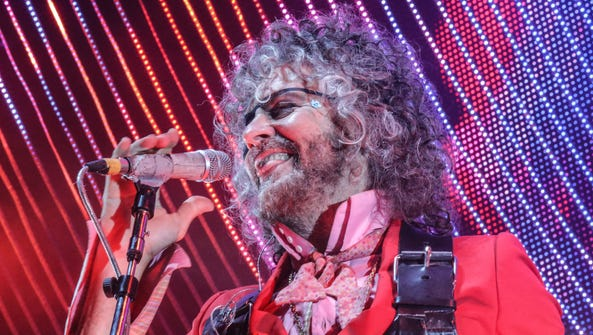 Wayne Coyne of The Flaming Lips welcomes the audience