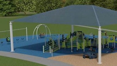 An example inclusive playground equipment that could be coming to Young Park.