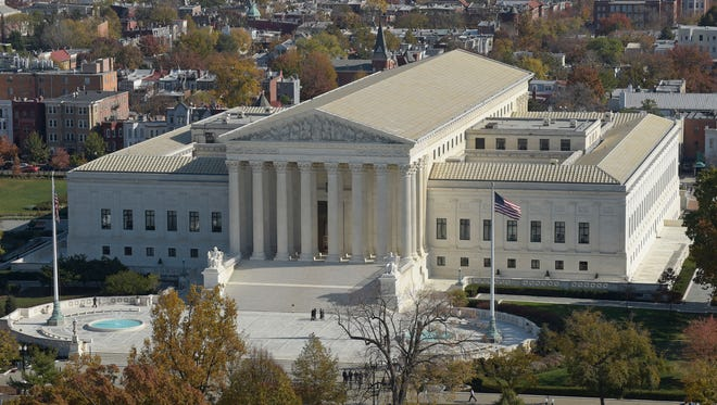 Supreme Court from the Capitol Dome, on Capitol Hill in Washington.