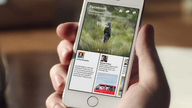 A screenshot of the News Feed within Facebook app Paper.