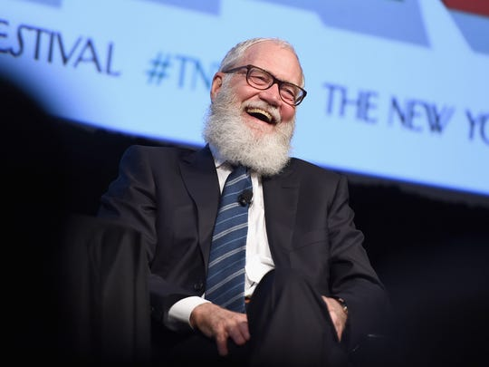 One of David Letterman's retirement projects has been growing an impressive beard.