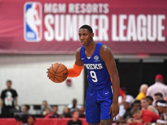 Third-overall RJ Barrett will make his preseason debut when the New York Knicks play the Washington Wizards on Monday night.