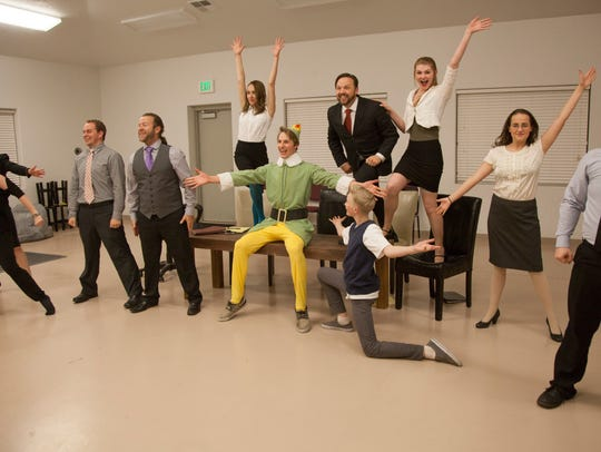 Members of the Stage Door Company rehearse for their