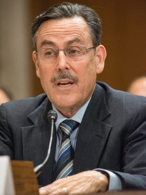 Michael Dourson at his confirmation hearing, Oct. 4, 2017