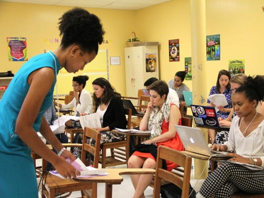 Teach For America corps members participate in a leadership