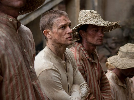 Charlie Hunnam plays a wrongly convicted man sent to